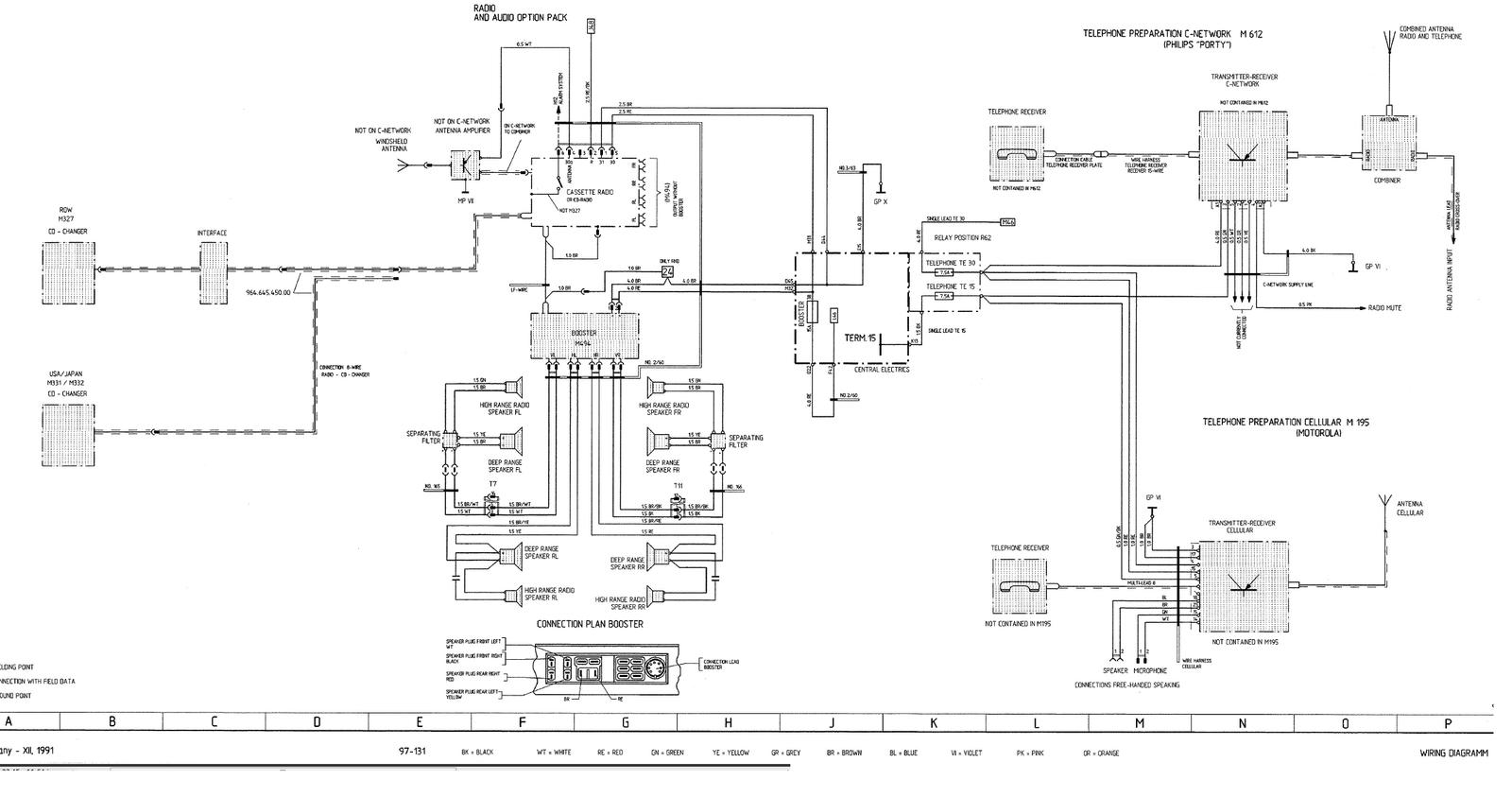 hight resolution of porsche 964 wiring diagram