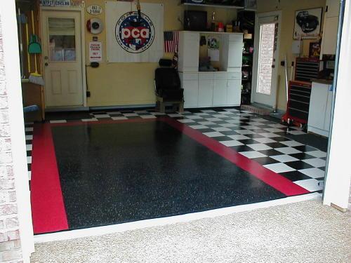Would I do my garage floor in VCT Vinyl Composite Tile