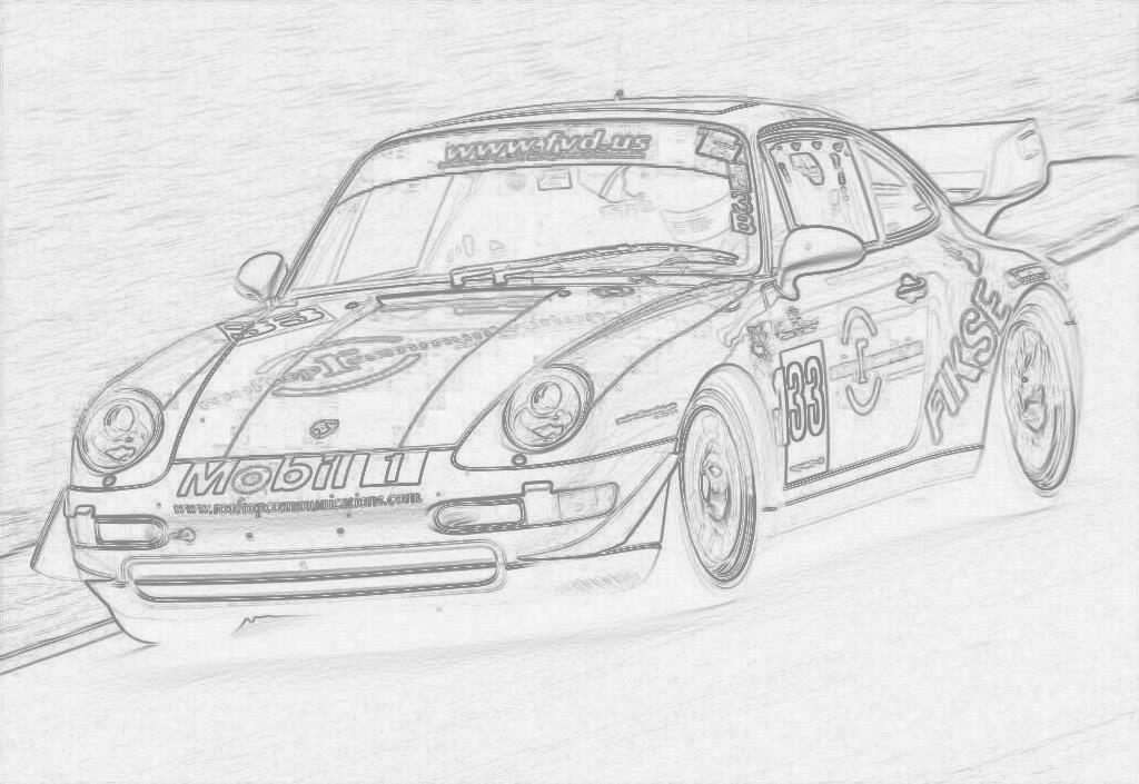 Kleurplaat Porsche Cayenne • Kidkleurplaat.nl