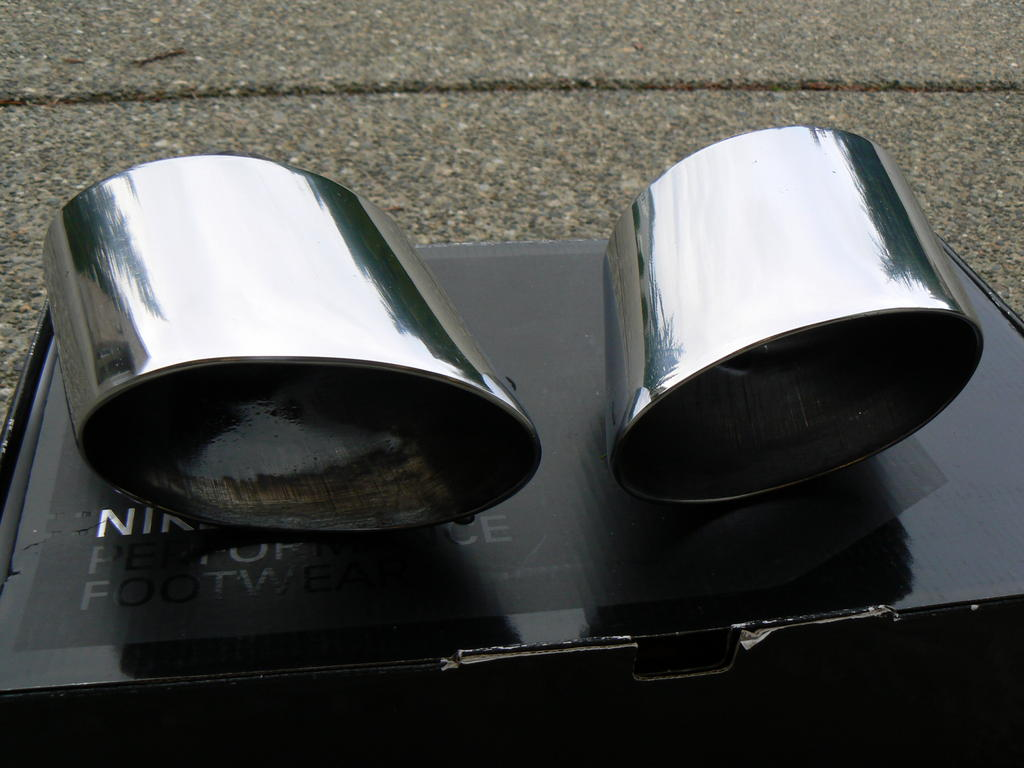 fs oem 993 big oval exhaust tips for