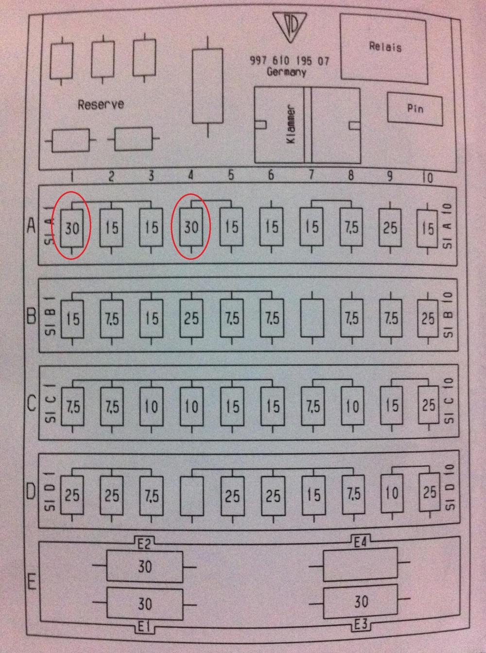 medium resolution of fuse panel diagram needed 2007 997 1 4s cpe rennlist porsche rh rennlist com f350 super