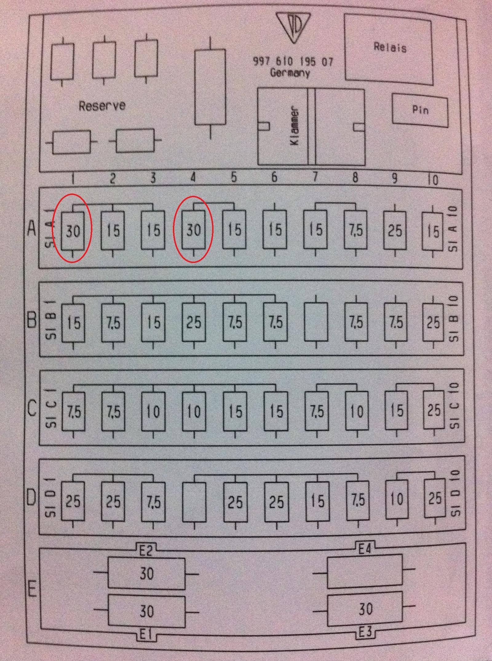 hight resolution of fuse panel diagram needed 2007 997 1 4s cpe rennlist porsche rh rennlist com f350 super