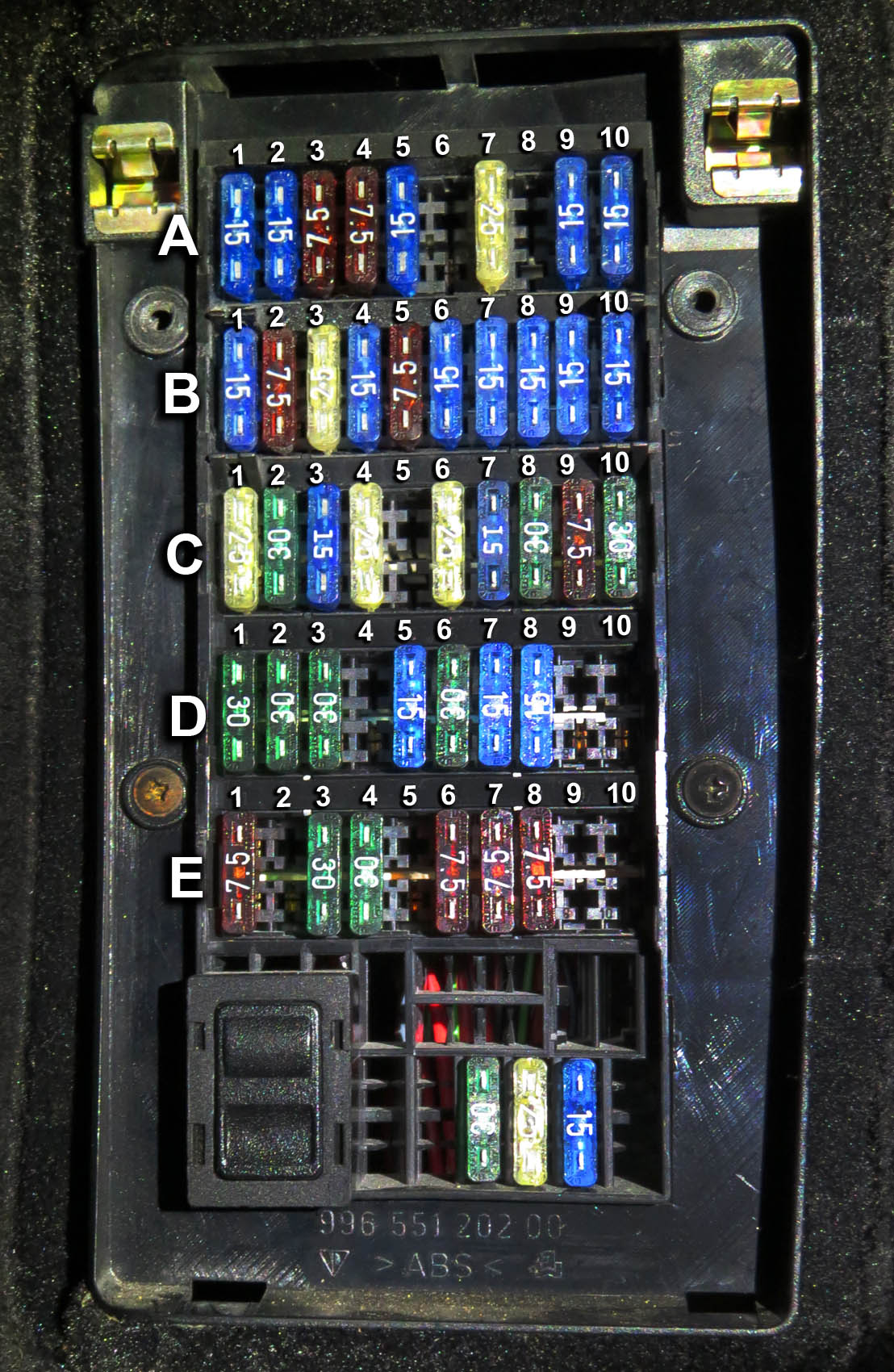 2002 Porsche Design Fuse Box Diagram