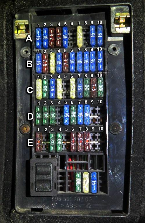 small resolution of boxster fuse box wiring diagram operations porsche 986 fuse box diagram porsche boxster fuse box location