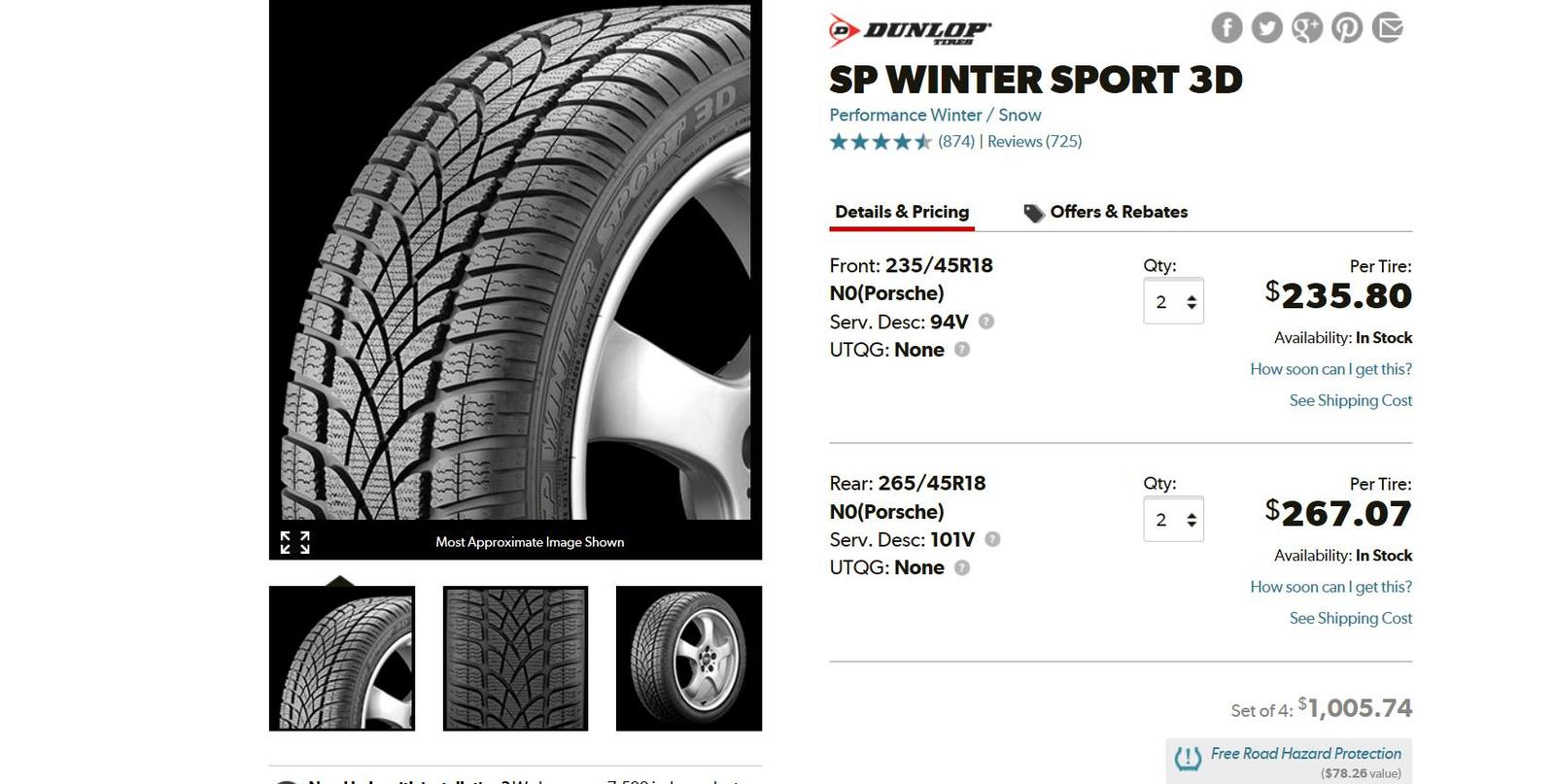 987 981 Cayman S Bbs Winter Wheel Tire Set Cost New