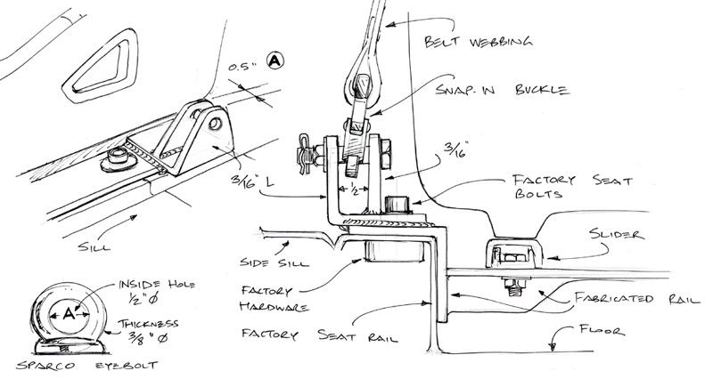 Seat & harness mount bracket! new mock-up & diagrams