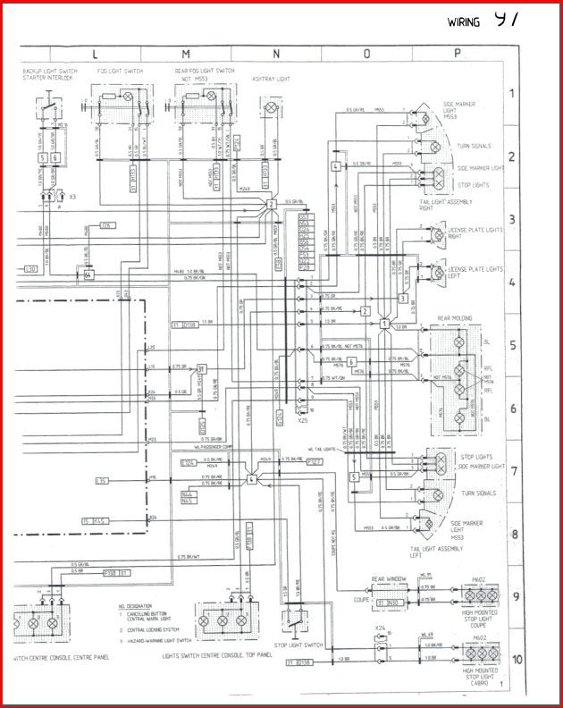 porsche 996 wiring diagrams xlr to trs diagram 993 c4 1995 - hazards! rennlist discussion forums