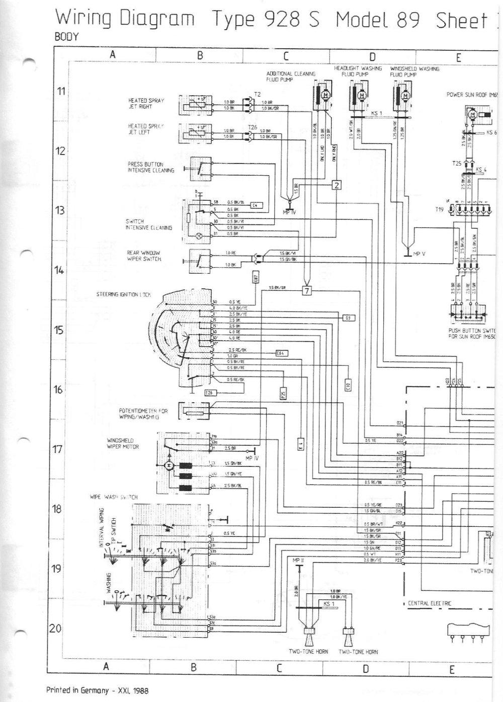 medium resolution of 1984 porsche 944 sunroof wiring diagram wiring diagrams lol 1984 porsche 944 fuse diagram
