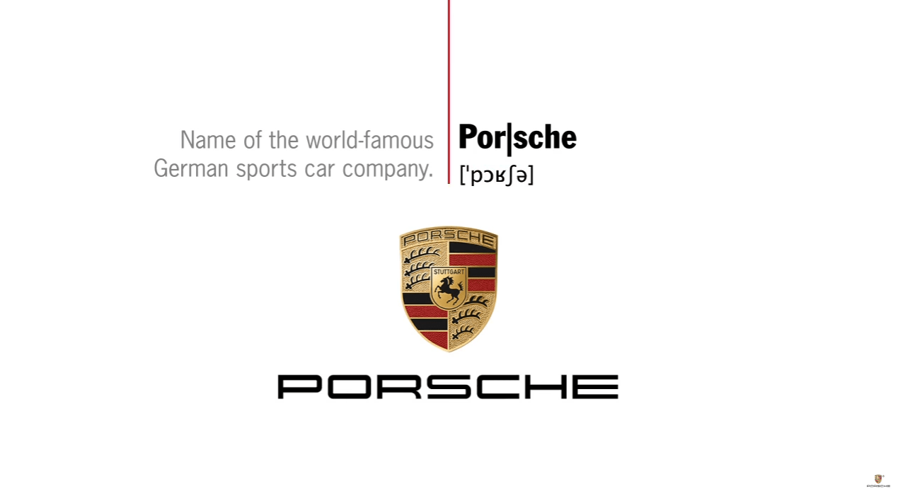 For the Phonetically Challenged, Porsche Offers Lesson in