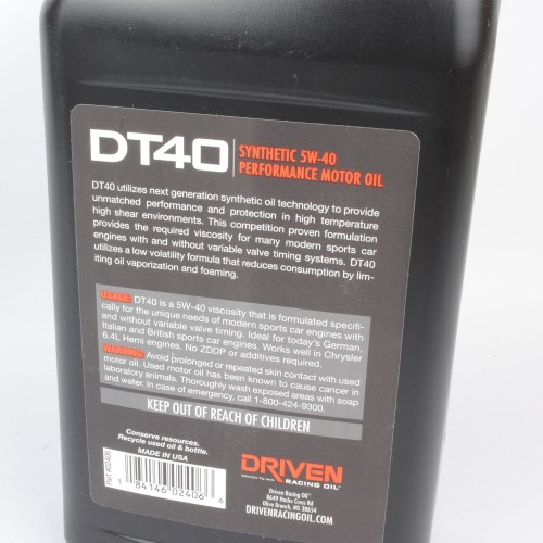 small resolution of driven dt40 full synthetic oil 1 qt