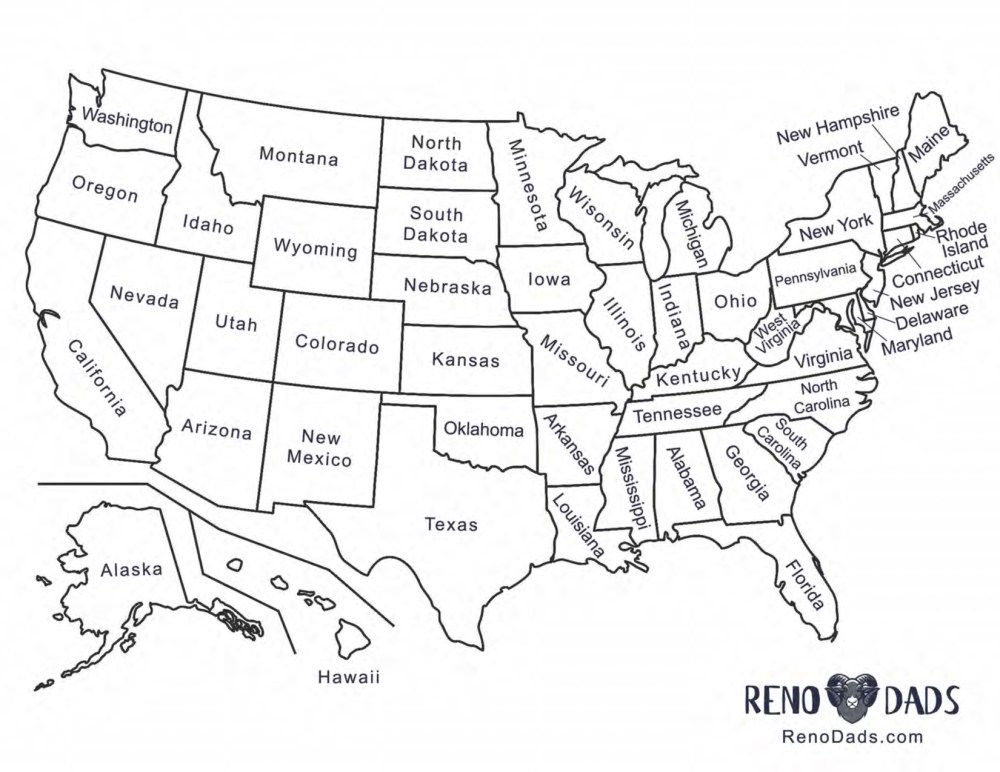 License Plate Game Map