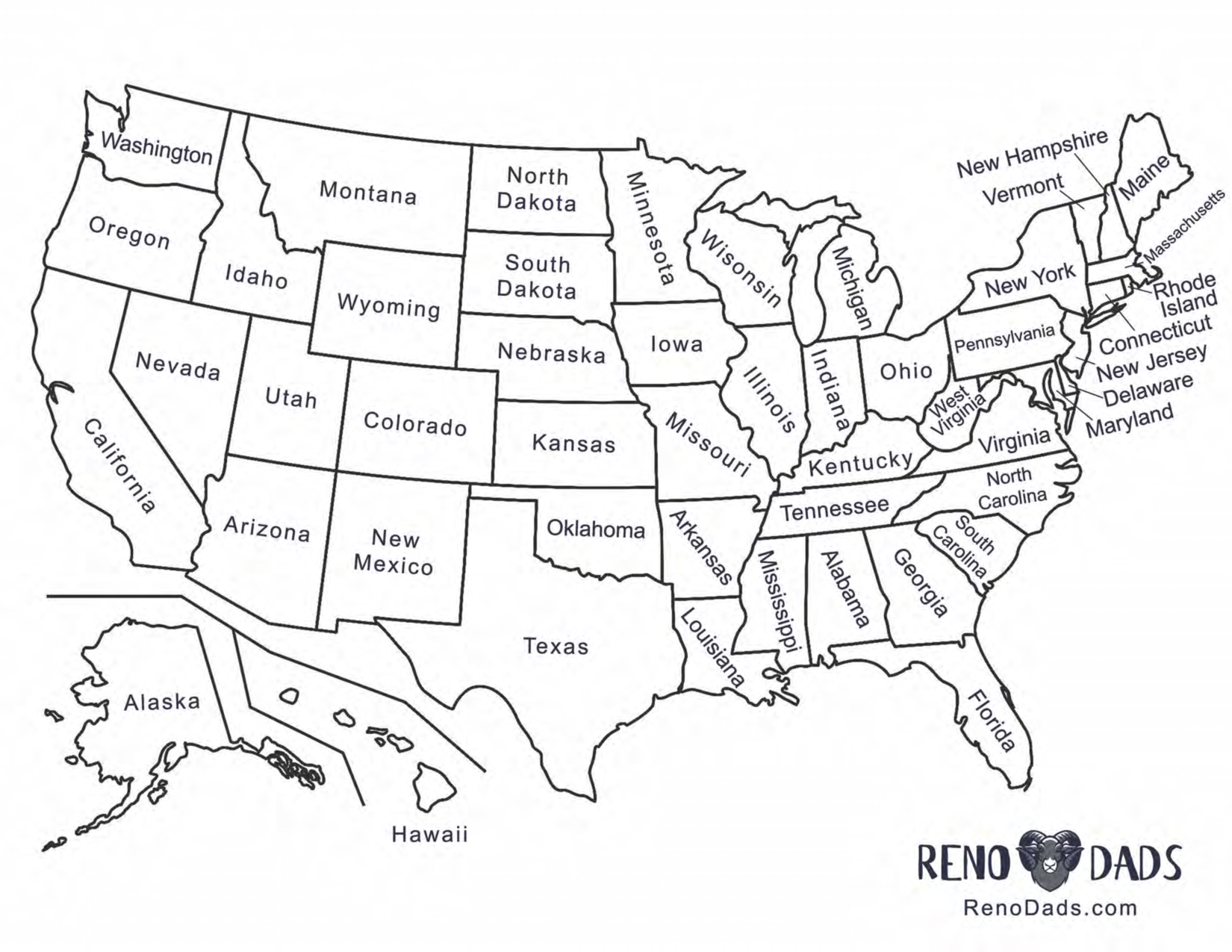 License Plate Game Printable Reno Dads Family Road Trip Games
