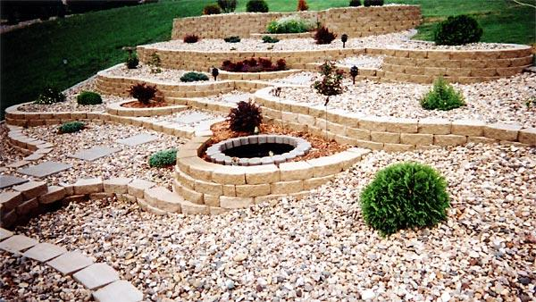 landscape yard with xeriscaping