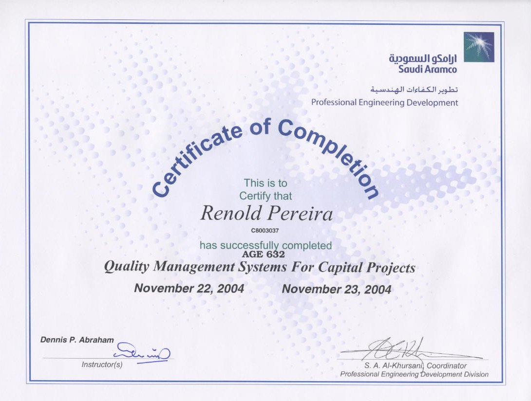 Welcome to Renold Pereira Project Technical Office Manager Multitask Professional professional