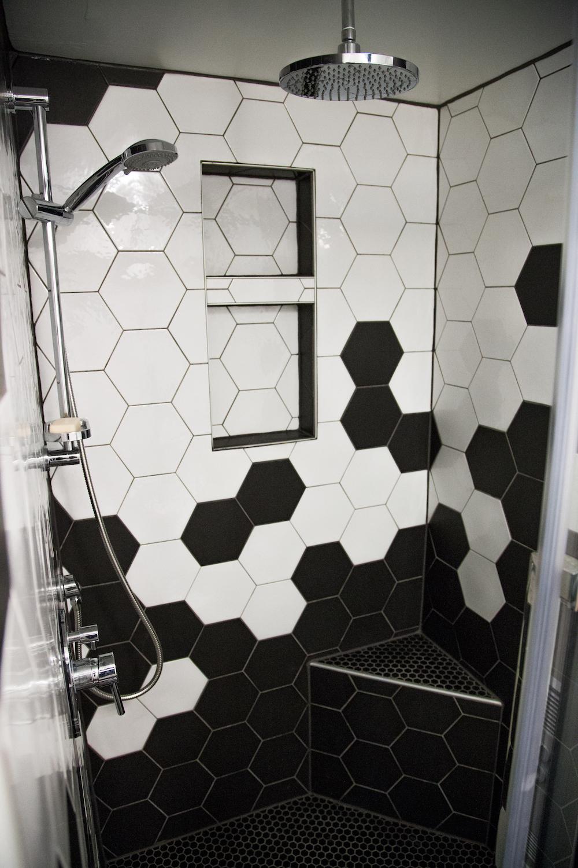 Salle De Bain Low Cost salle de bain, céramique hexagonale (6 photos) | rénolution