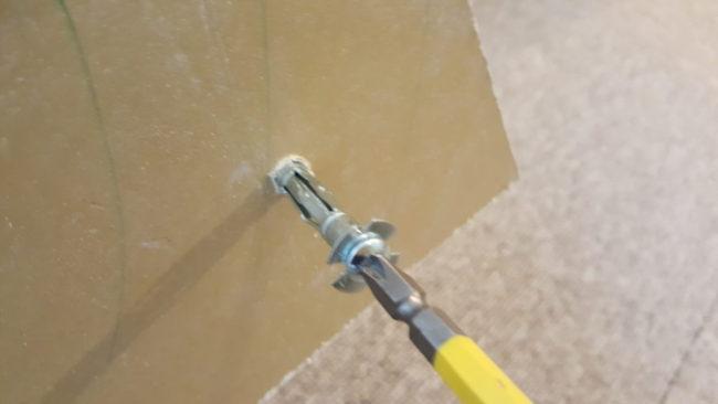 石膏ボード アンカー DIYで挑戦