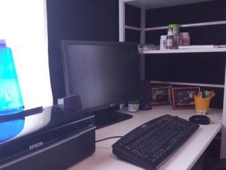 書斎 机の棚 DIY