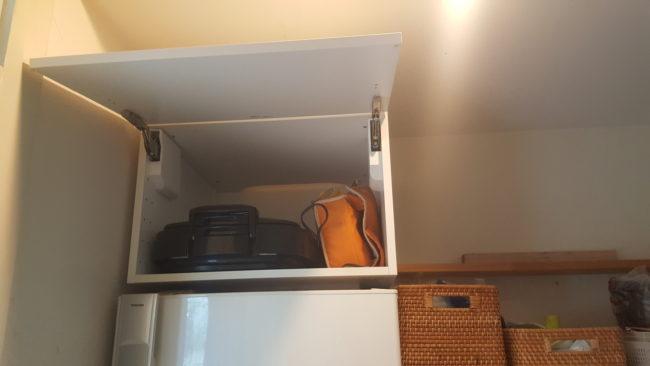 冷蔵庫上収納 ダンパー