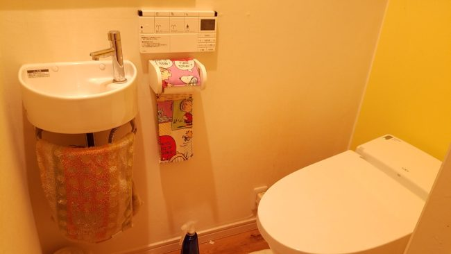 トイレリフォーム タンクレス 手洗い付き