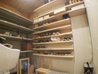 シューズクローク 棚板 DIY