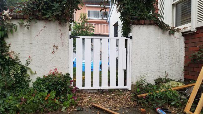 お庭の扉DIYで完成