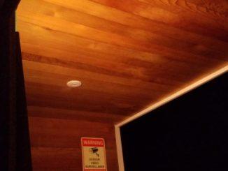 玄関 天井 羽目板貼り DIY