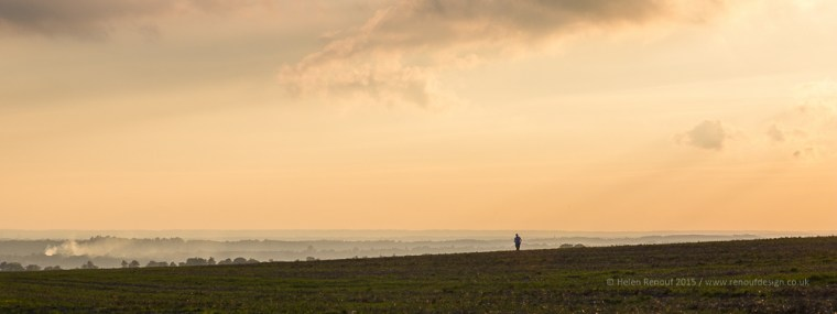 The lone runner - who commented on the amazing light - ISO250, F18, 1/125sec