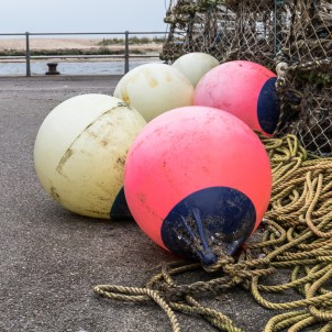 Crab baskets and buoys - ISO500, F13, 1/40sec