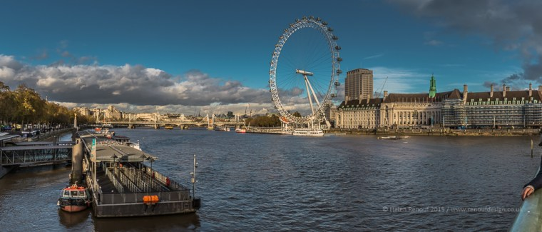 A panaroma of the Thames