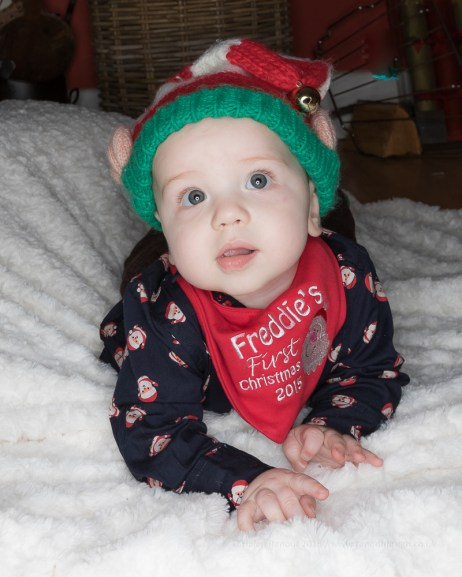 Chriistmas fun 2015 - cousins Freddie and Faris on Christmas Day.