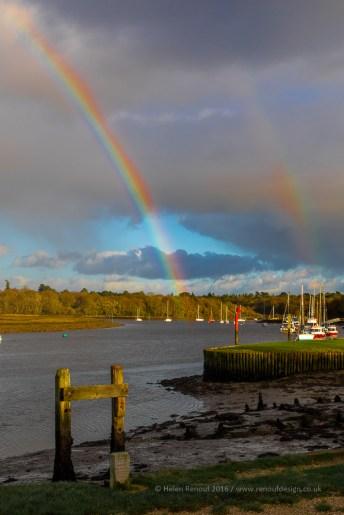 7 / 366 0 a rainbow over Bucklers Hard at Beaulieu