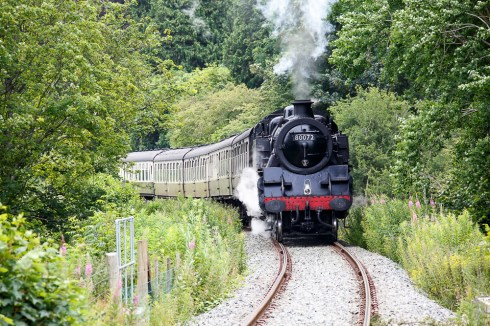 Corwen Station in Wales - A quick leg stretch and a steam train!