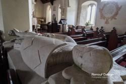 Inside an old church