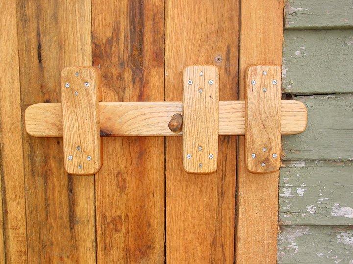 Wooden Double Gate Latch