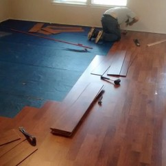 Laminate Flooring Sunken Living Room Design With Mirrors On The Renov8z Here Is We Installed Top Of Floor Frame From Previous Post