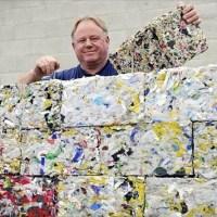 Ladrillos de plástico reciclado