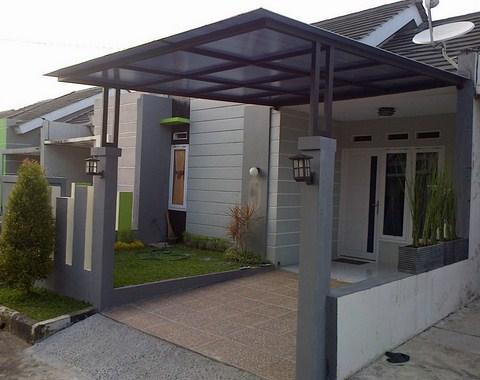 contoh atap baja ringan rumah minimalis kanopi murah renovasi