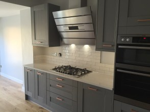 Copper and grey kitchen