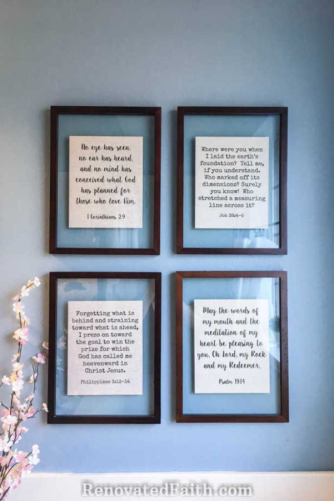 DIY Floating Picture Frames #floatframes #wallart #transparentframes