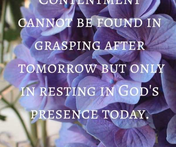 When Contentment Seems Out of Reach