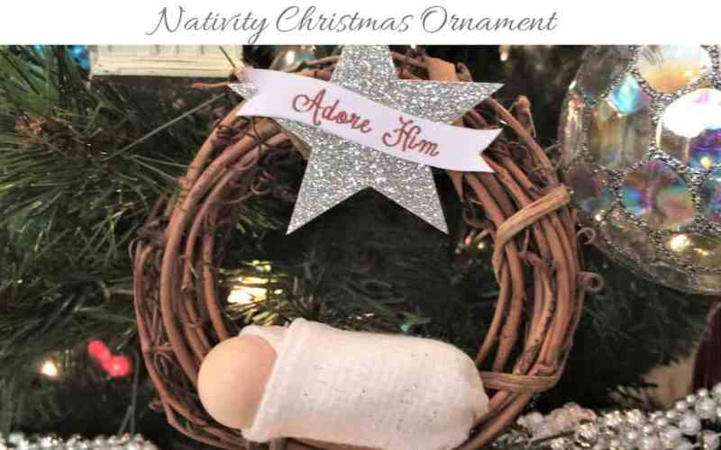 DIY Nativity Christmas Ornament