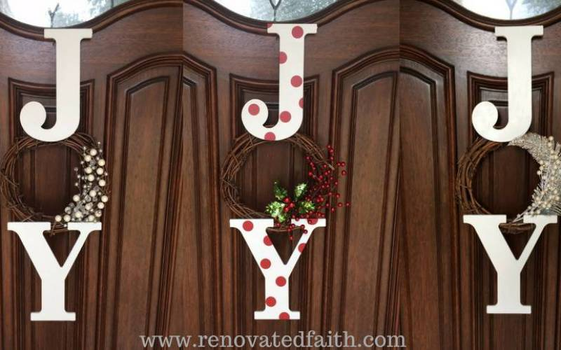 JOY Wreath Tutorial