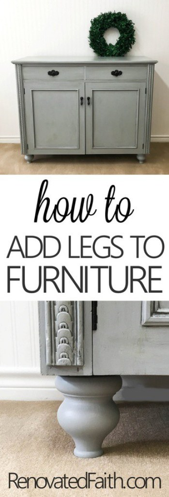 How To Add Legs To Furniture (Buffet Reveal) #furniturefeet #furniturelegs