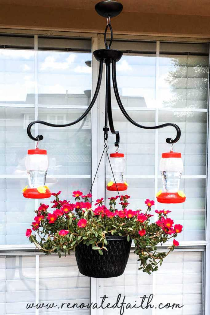 How To Make A Diy Chandelier Hummingbird Feeder On A Budget