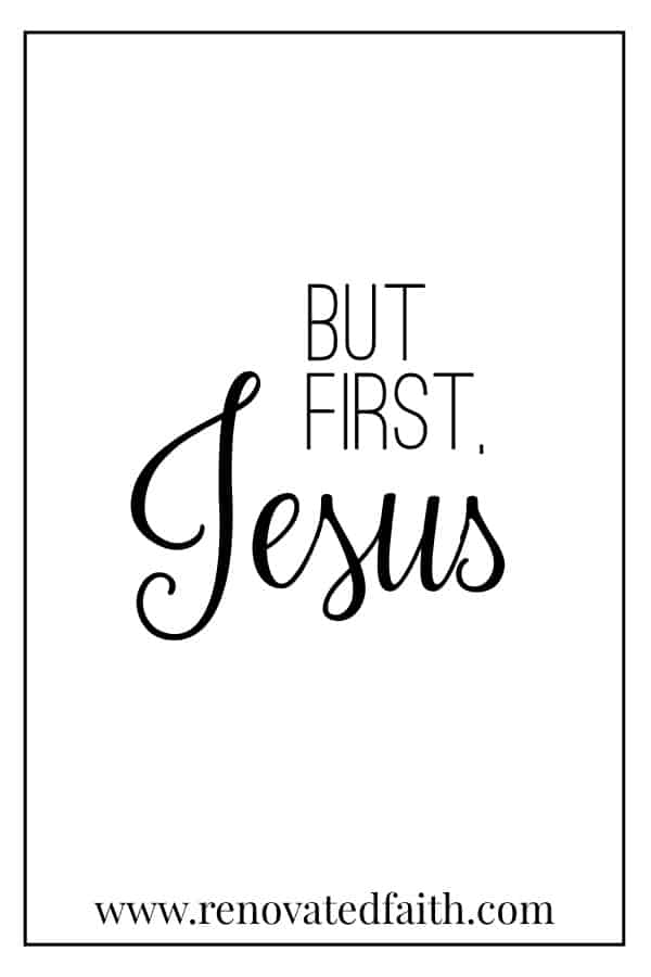 but first, Jesus