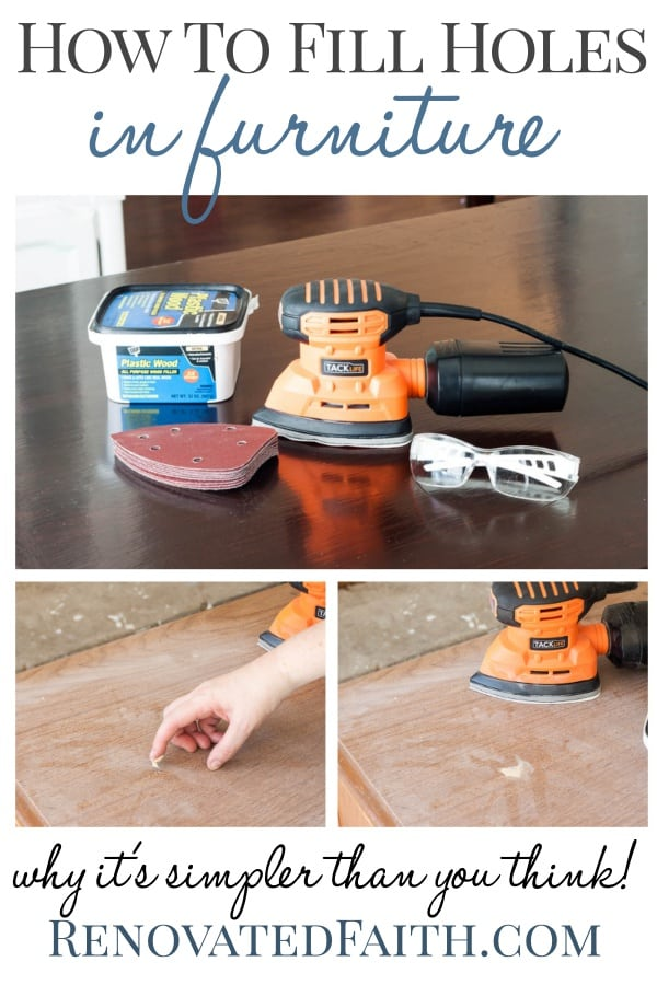 How to Fill Holes in Furniture