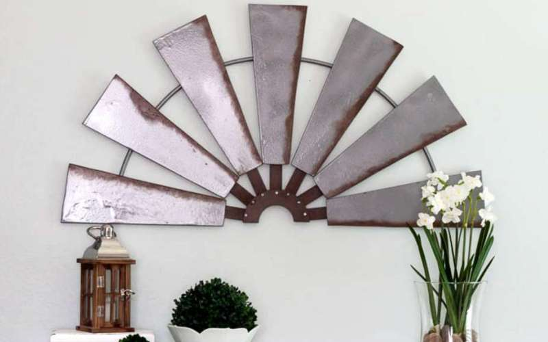 The Easy Way to Make DIY Windmill Wall Decor for Less than $20