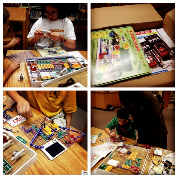 Trying out our new Snap circuits