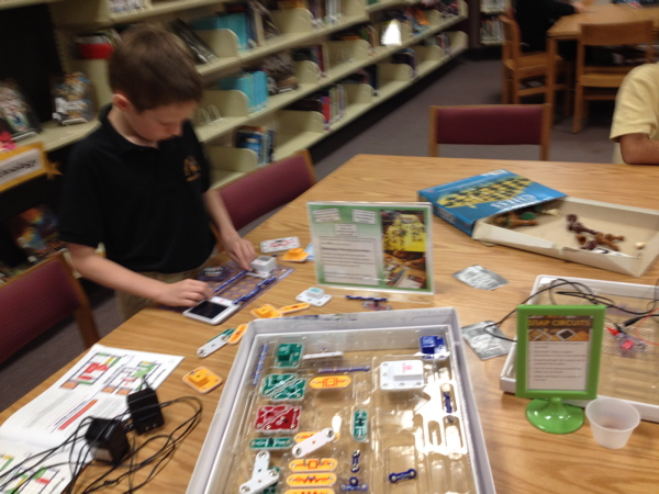 Our Snap Circuits station