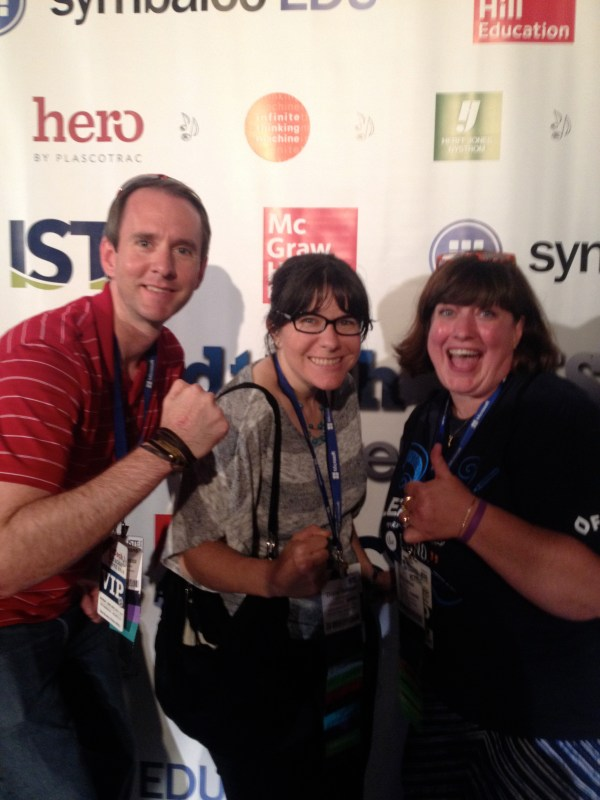 Me, Andy Plemmons, and Okle Miller at ISTE EdTech Kareoke
